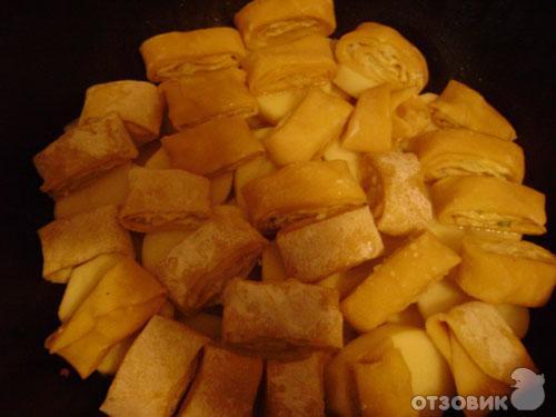 рецепт штруделей с мясом и картошкой