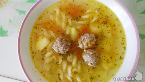 Суп с макаронами пошаговое фото