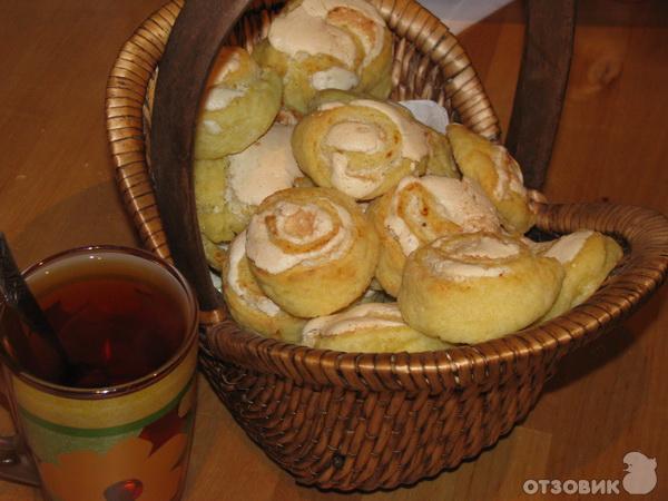 Рецепт творожное печенье Розочка фото