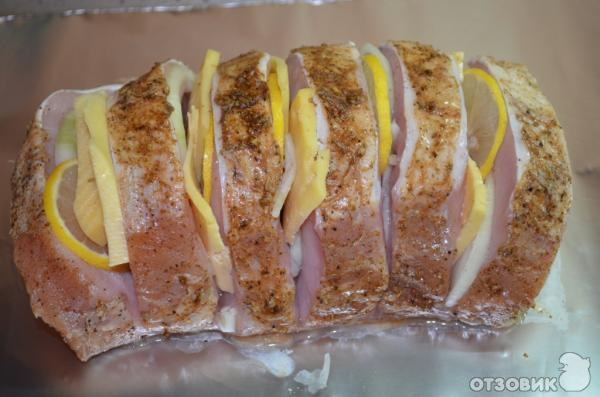 Рецепт Мясо в фольге с сыром и лимоном фото