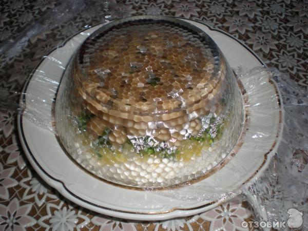 Рецепт салата Грибное лукошко фото