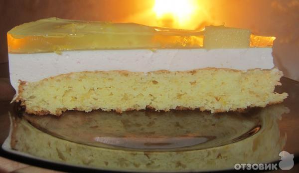 бисквитный торт с суфле и йогуртом рецепт с фото