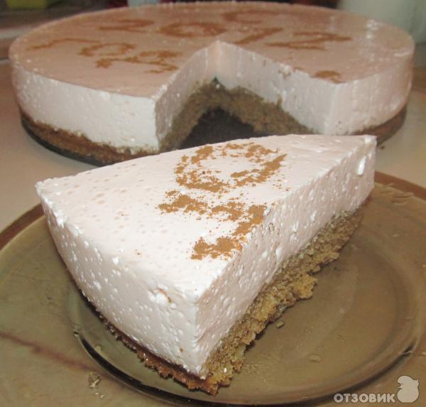 бисквит с творожным суфле рецепт с фото