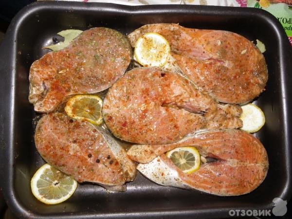 рецепт семги запеченной в духовке с лимоном