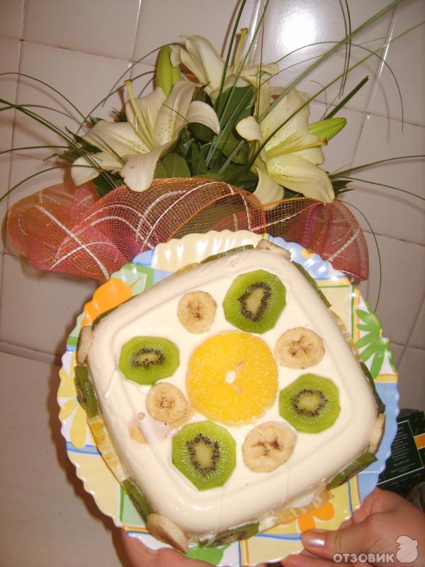 Рецепт торт Желейный с фруктами фото
