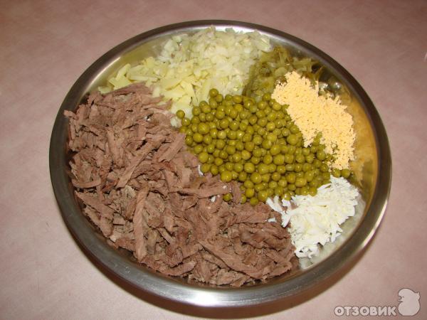 салаты с варёным мясом