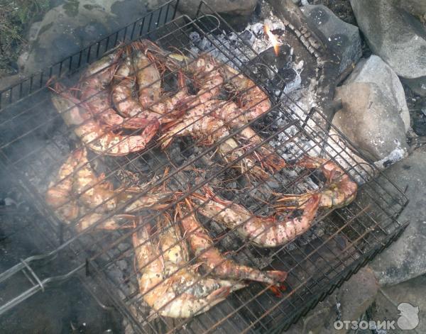 креветки на мангале рецепт с фото