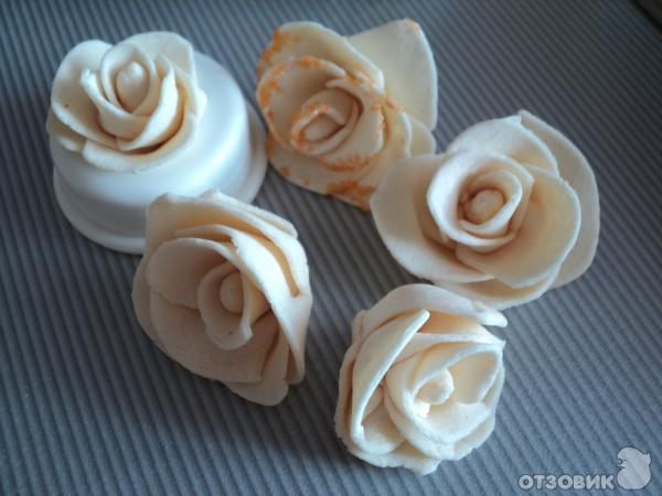 Рецепт Розы из марципана фото