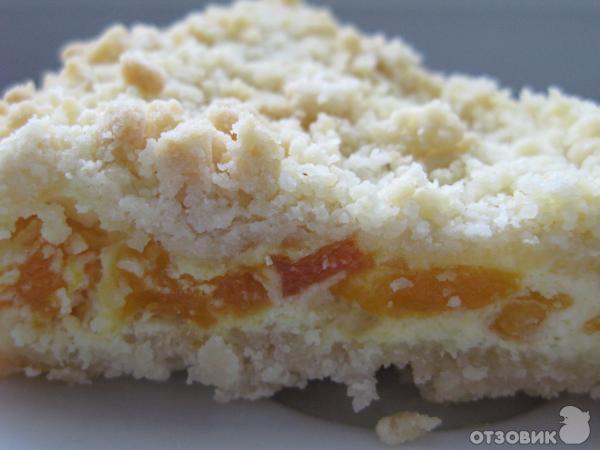 Пирог с курагой и творогом рецепт