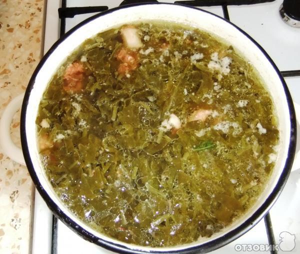 Рецепт: Щавелевый суп | с яйцами