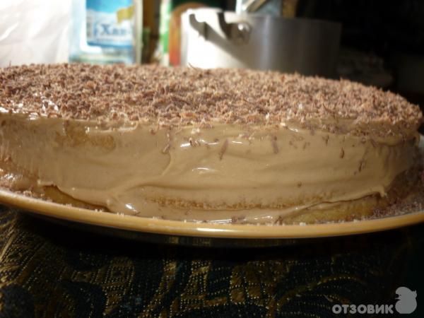 Торт из коржей с вареной сгущенкой