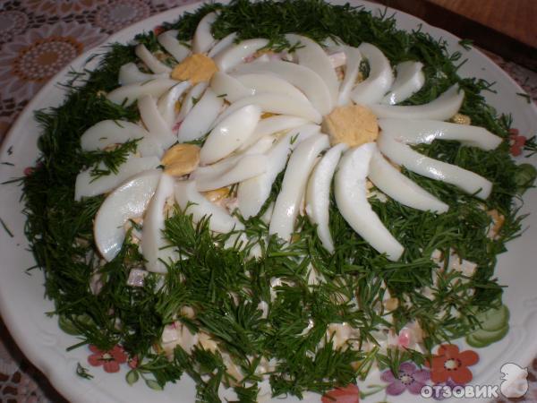 Рецепт салата Ромашковое поле фото