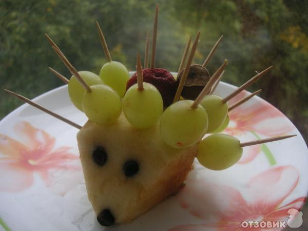Фото поделок ежик с яблоком