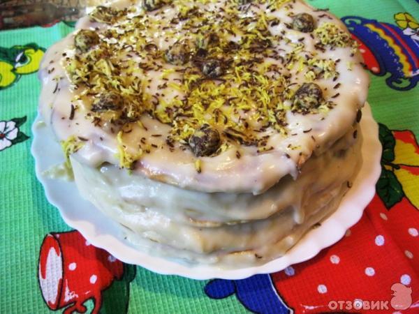 Торты без выпечки с заварным кремом рецепты