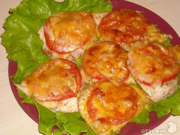 рецепт куриное филе запеченное с сыром и помидорами