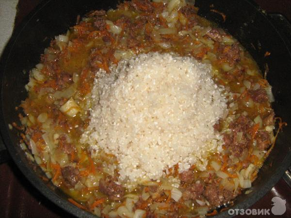 Рис с тушенкой рецепт в кастрюле пошагово 56