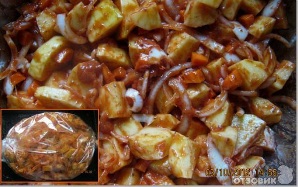 рецепт картошка в пакете для запекания в духовке