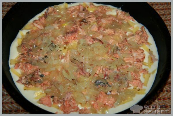 Рецепт Быстрый пирог с рыбой и картофелем фото