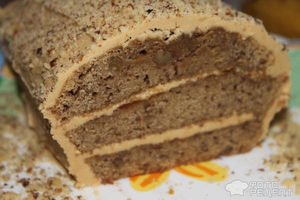 Рецепт Кофейно-ореховый торт фото