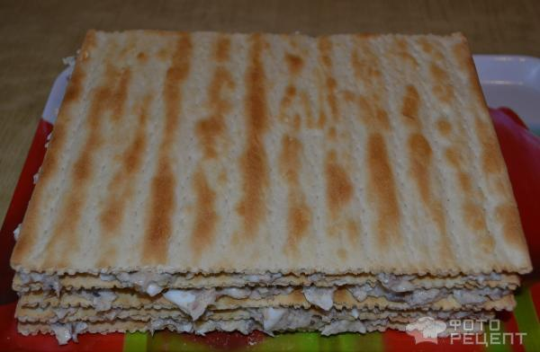 Слоеный пирог с сайрой с