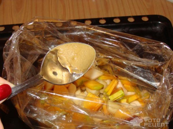Рецепт Курица запеченая с тыквой фото