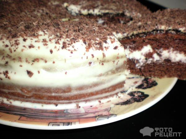 Торт со сметаной и кремом