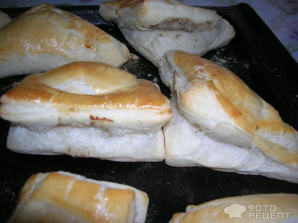 Слоеное тесто бездрожжевое с мясом рецепт