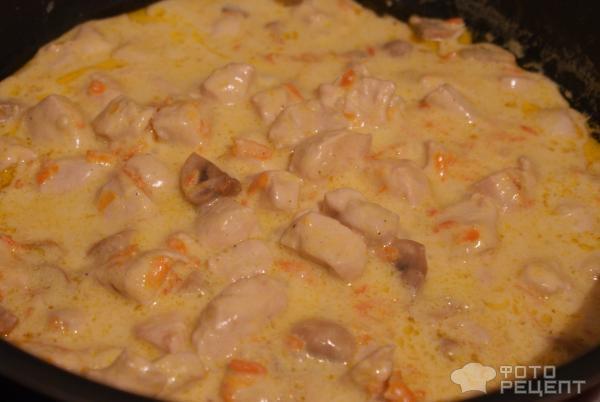 Филе с грибами в сметанном соусе рецепт