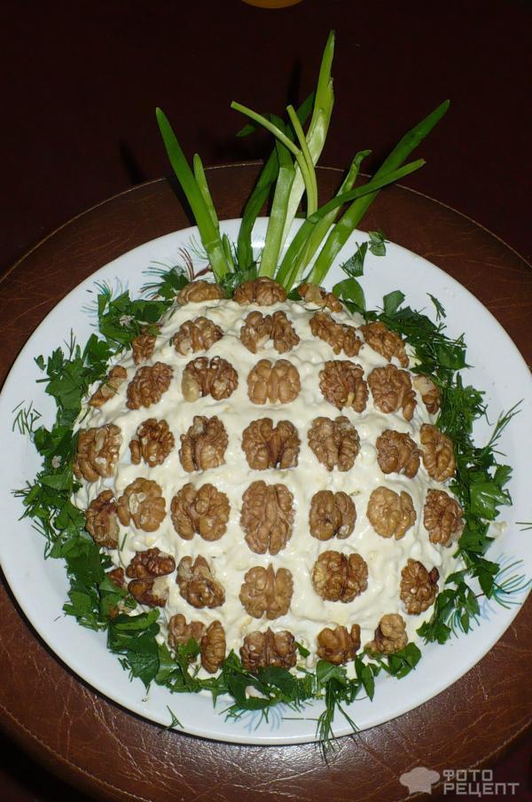 Рецепт салата ананас с фото
