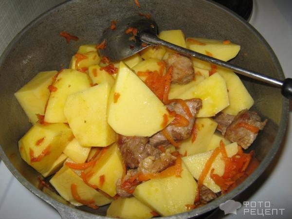 Картошка с капустой и мясом фото