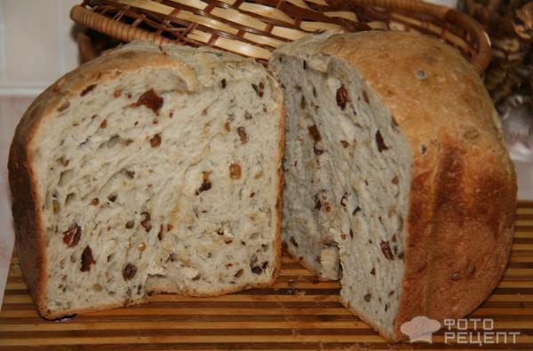 Хлеб с орехами в хлебопечке