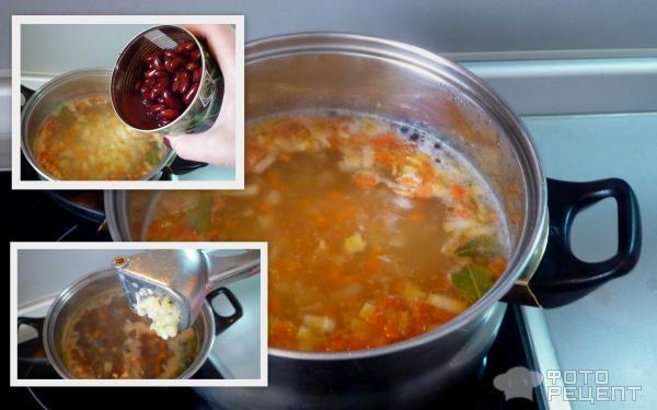 Щи с консервированной фасолью постные рецепт пошаговый