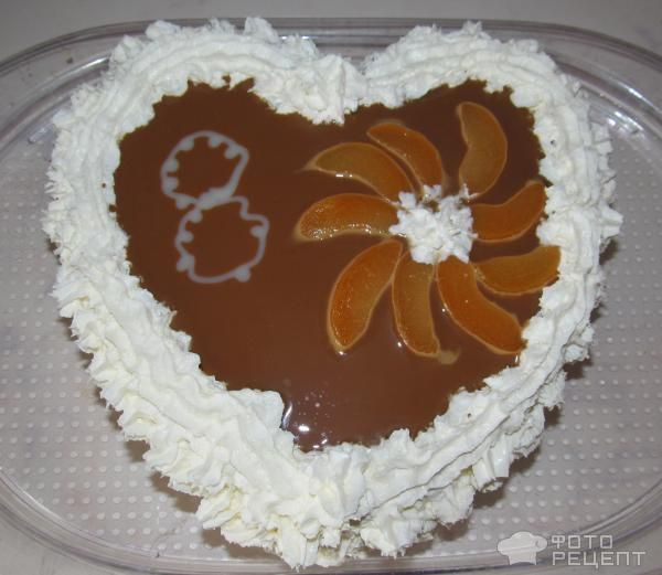 Рецепт Торт со взбитыми сливками и персиками фото