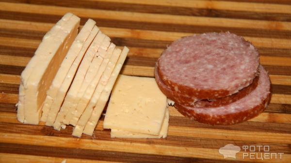 рецепт блины с копченой колбасой фото