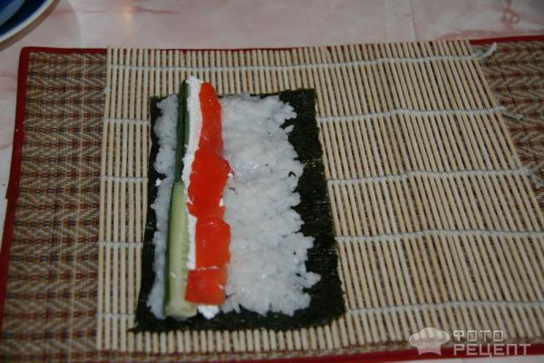 Роллы в домашних условиях с обычным рисом и уксусом