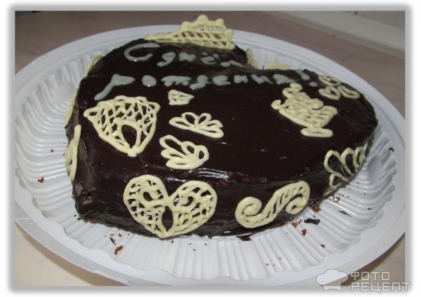 шоколадный торт, украшения из шоколада