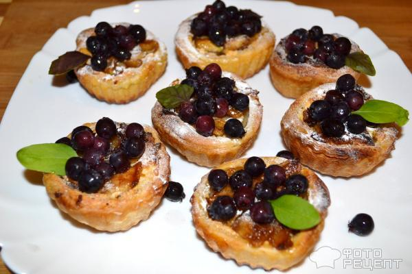 Корзиночки с творогом и ягодами рецепт