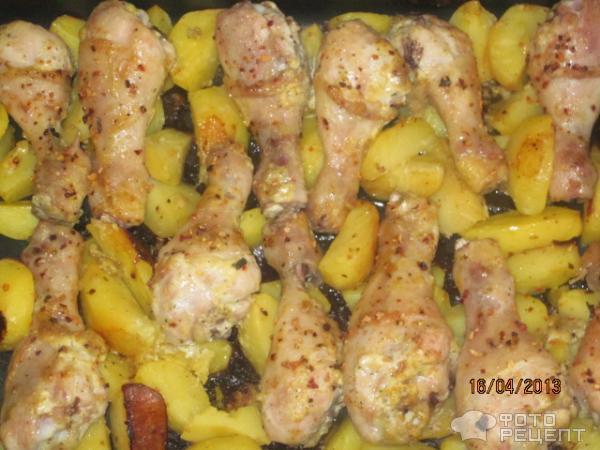 куриная голень в духовке рецепты с фото с картошкой