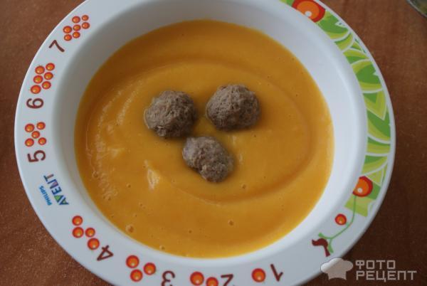 Крем суп с фрикадельками пошаговый рецепт с