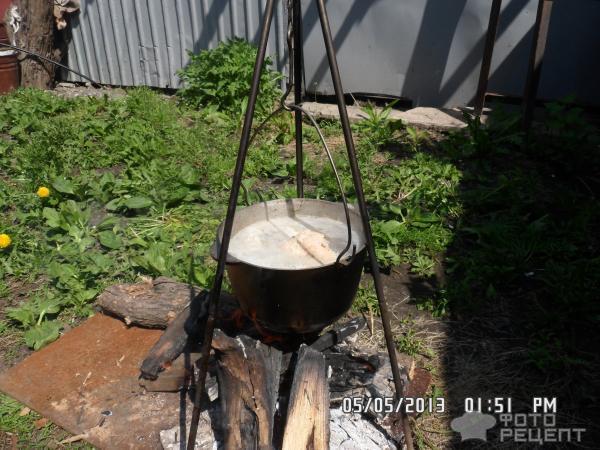 Рецепт Уха на костре фото