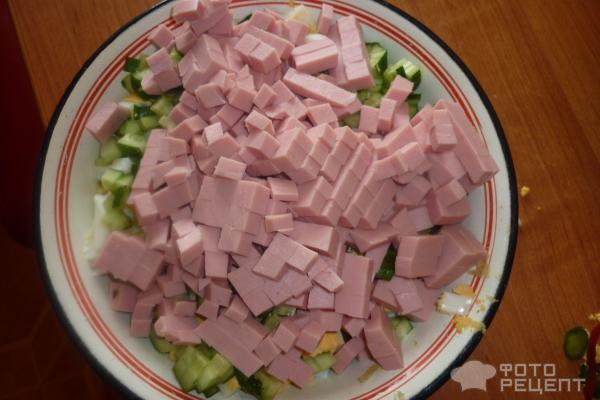 Салат с колбасой вареной рецепт пошагово