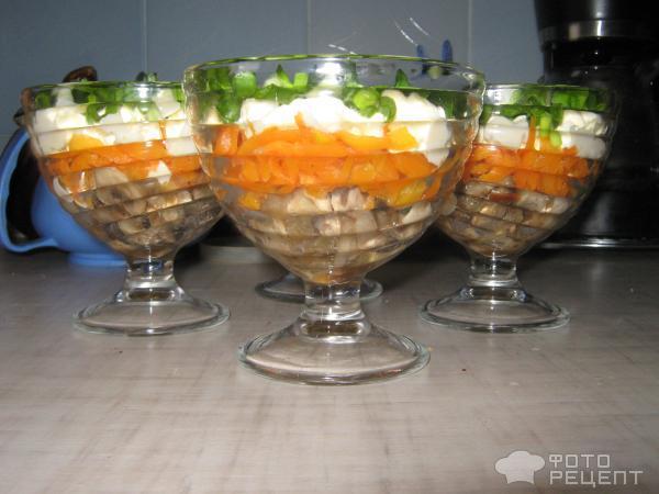 Рецепт салата Из грибов с морковью и яйцами фото