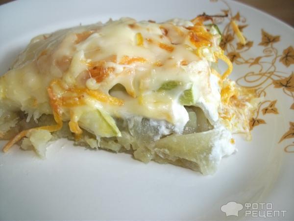 Рецепт Кабачки по-венски на картофельной подушке фото