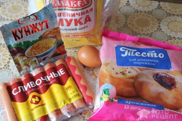 Рецепт сосиски в тесте на сухих дрожжах