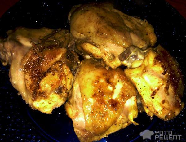 Рецепт Жареные куриные бедрышки фото