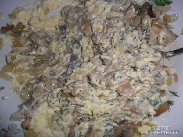 Рецепт: Рулетики из кабачков, с сыром и шампиньонами