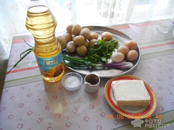 Рецепт Пирожки с картошкой, яйцами, луком и зеленью фото