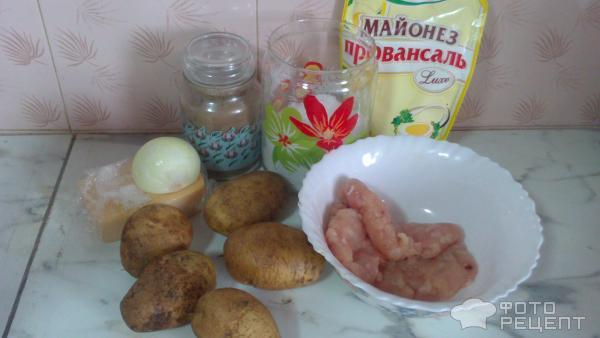 Рецепт: Мясо по-французски из куриного фарша - с майонезом