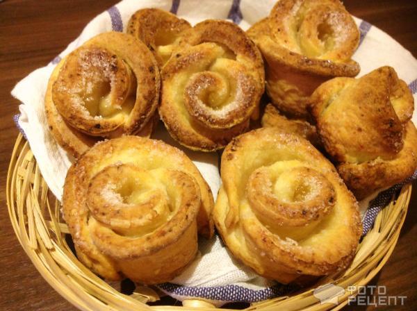 печенье с яблоками розочки рецепты с фото