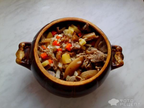 куриные желудки в горшочке рецепты с фото